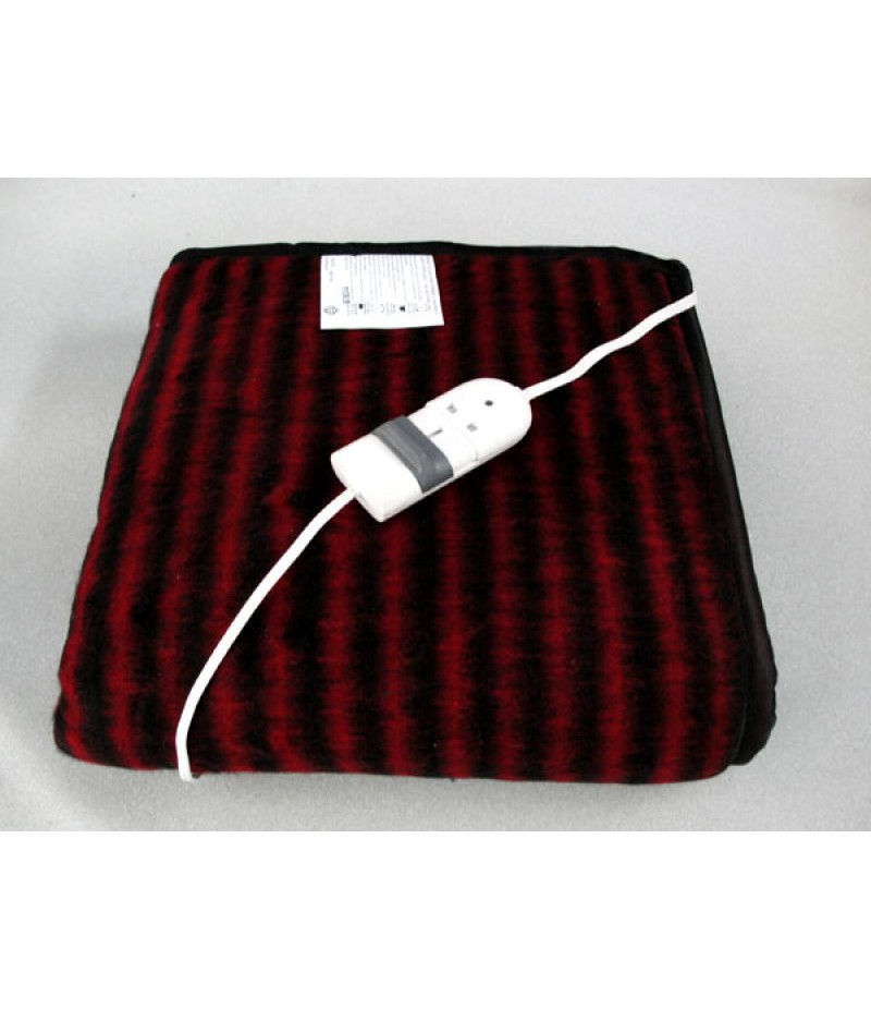 Maroon Economy Double Bed Electric Blanket